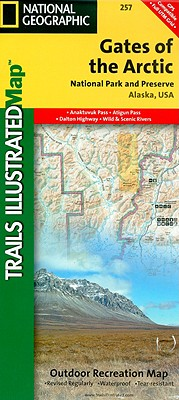 National Geographic Trails Illustrated Map Gates of the Arctic